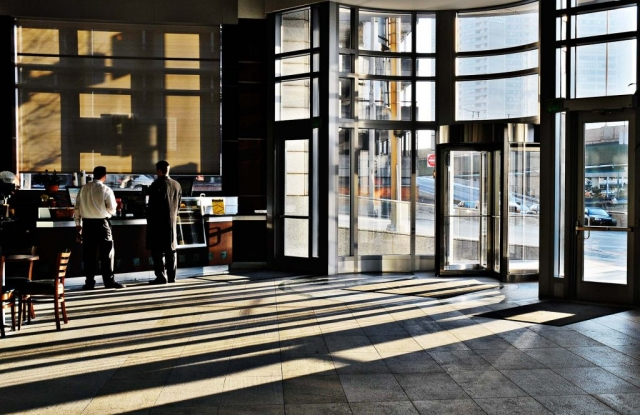 office tower lobby