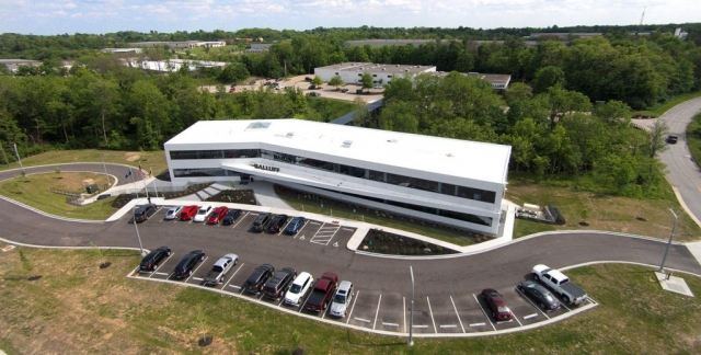 Balluff Co. drone photo of HQ