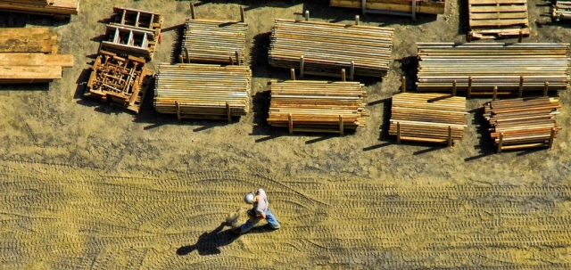 worker from above